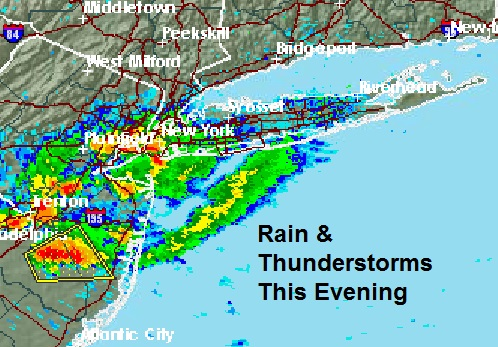Long Island Weather Downpours Moving In Weather Long Island