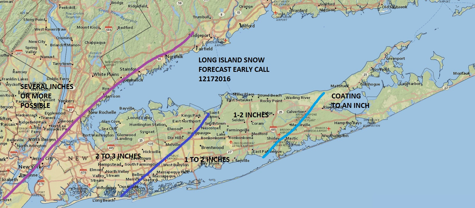 Long Island Weather Snow Forecast