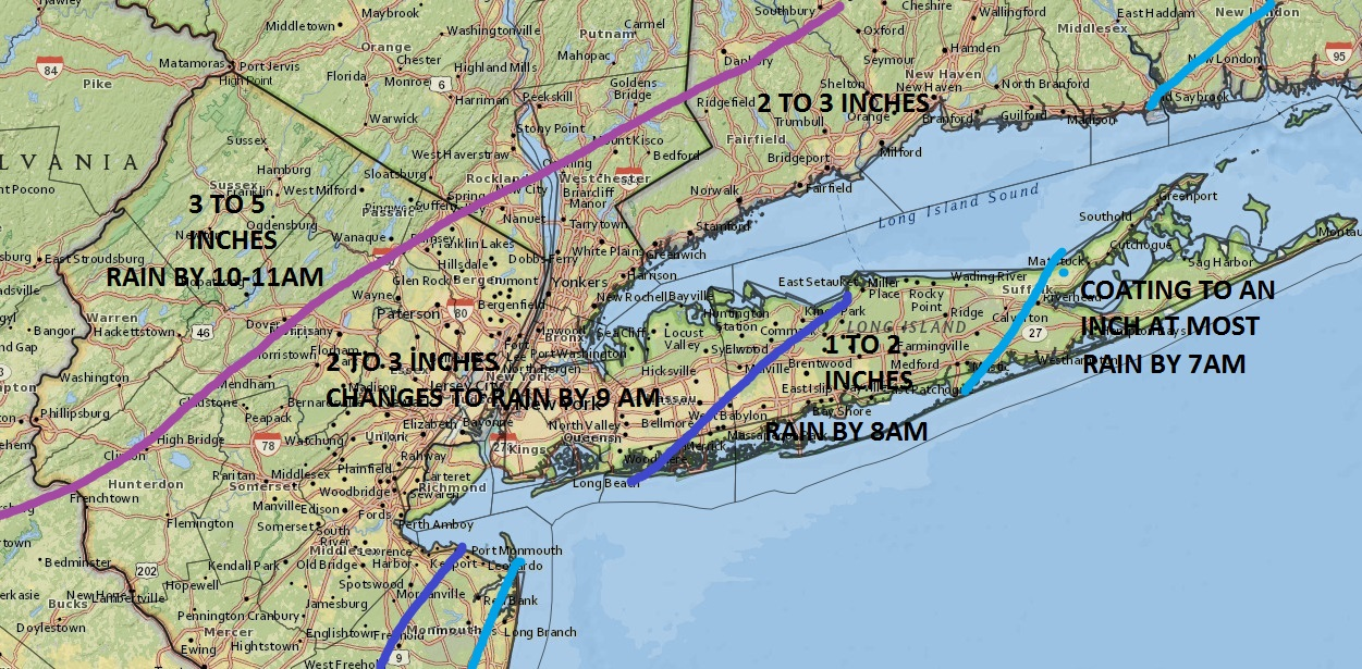 Long Island Weather Forecast For Thursday