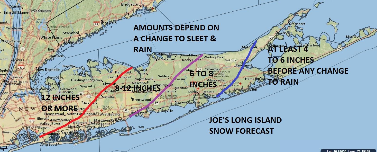 Long Island Blizzard Photos