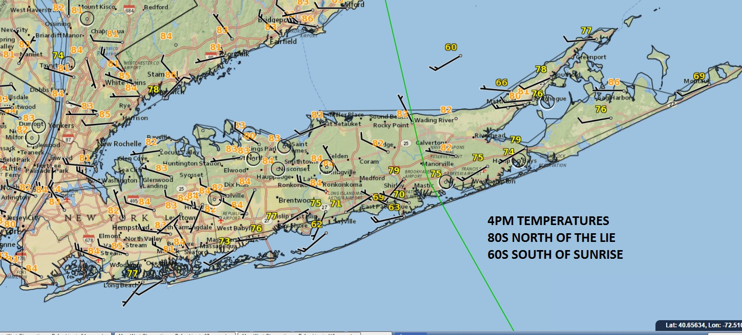 Long Island Big Temperature Changes Sunday Weather Long
