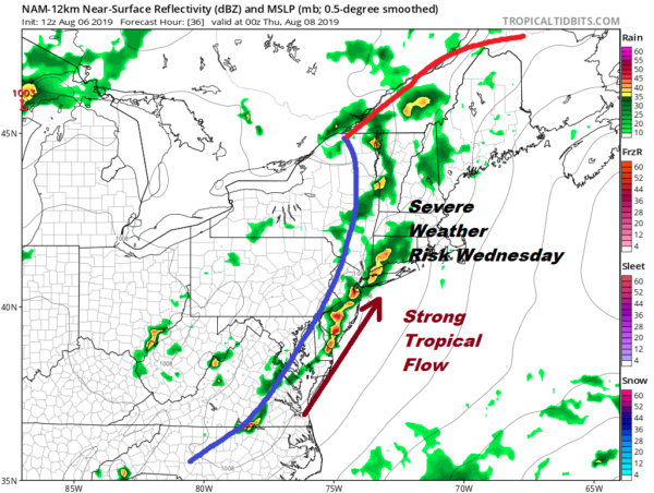Rain Grazing Eastern Long Island Thunderstorms Late Wednesday