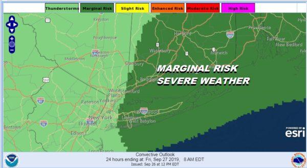 Marginal Risk Severe Weather Long Island Connecticut