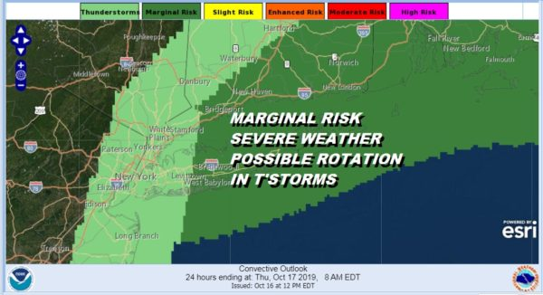 MARGINAL RISK SEVERE WEATHER POSSIBLE ROTATION IN T'STORMS