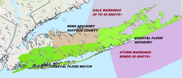 Long Island Noreaster Wind Rain Coastal Flooding Into Friday