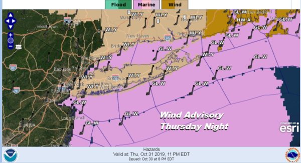 Wind Advisory Long Island Gusts 50 Mph Strong Cold Front Approaches