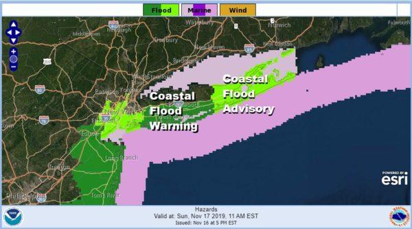 Coastal Flood Warning Sunday Sunday Night