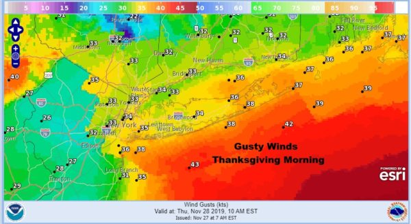 Long Island Thanksgiving Gusty Winds Dry Chilly