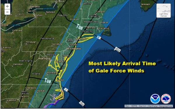 Tropical Storm Watch Long Island Tuesday Isaias Center Forecast Track Just To The West